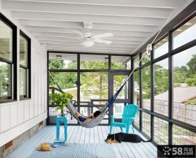 休闲阳台吊床布置