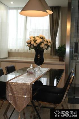 现代风格餐厅飘窗效果图