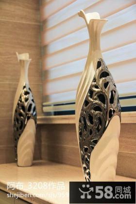 家庭花瓶装饰品摆放图片欣赏