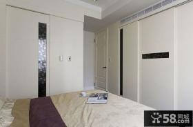 现代复式风格卧室衣柜图片大全