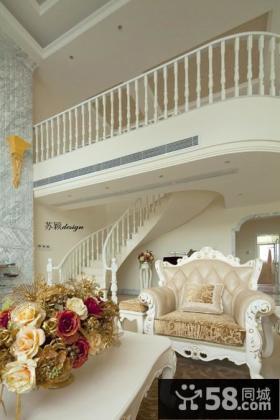 欧式简约别墅客厅楼梯图片大全