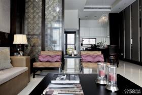 中式风格客厅隔断装修图片