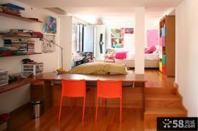 宜家混搭复式楼室内色彩装修效果图