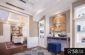 美式简约别墅室内玄关设计效果图