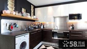 6万打造浪漫美式风格厨房橱柜装修效果图大全2014图片