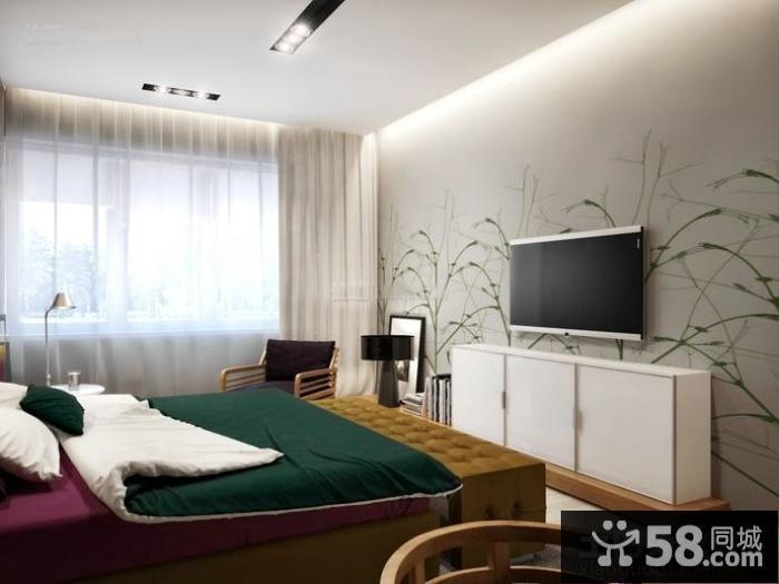 北欧室内设计卧室电视背景墙图片
