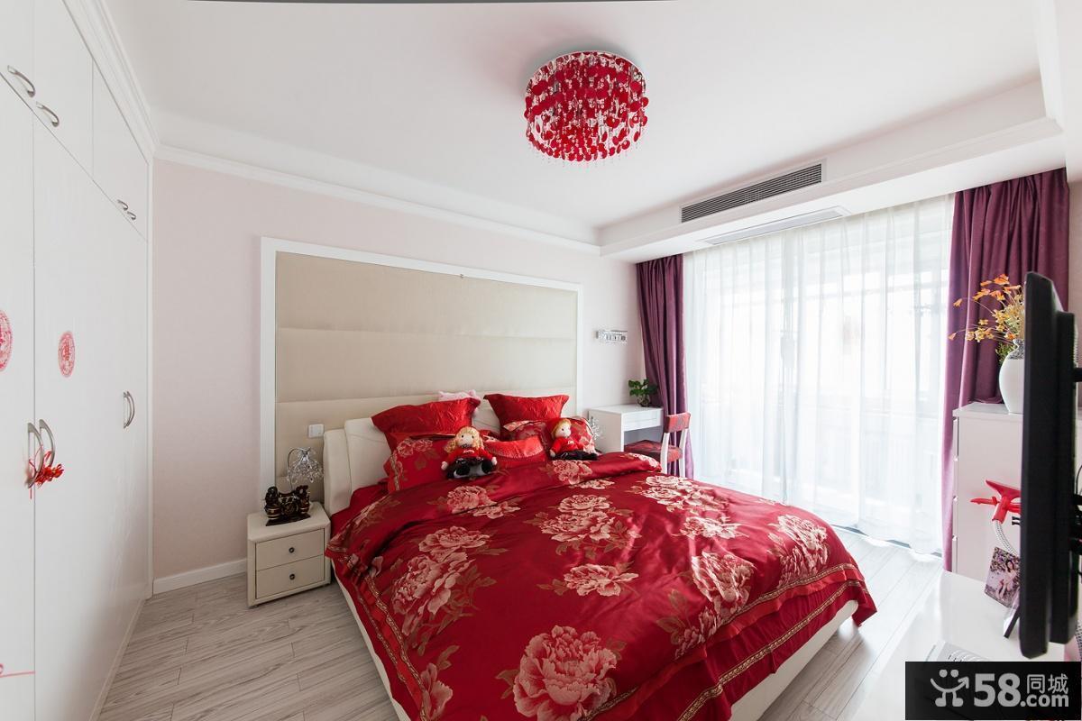 小户型婚房卧室装修效果图大全2013图片