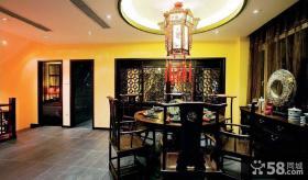 黑檀古典中式餐厅装潢