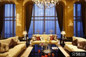 欧式别墅客厅装修效果图片大全