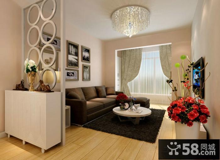 现代家庭客厅隔断设计效果图大全