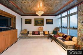 东南亚豪华别墅小客厅装修效果图