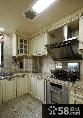 复古时尚欧式厨房效果图