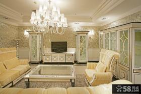 豪华的客厅沙发装修效果图