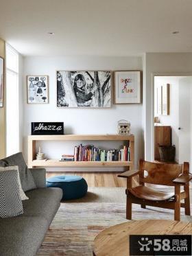 美式设计2平米书房图片