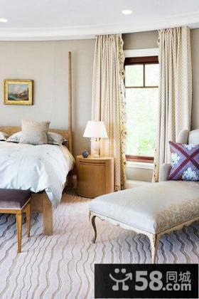 豪华欧式卧室窗帘装修图片