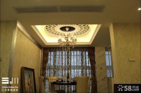 欧式风格小餐厅吊灯装饰设计图