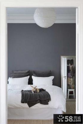 黑白简欧风格小户型素雅的卧室装效果图
