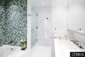 80平简约风格装修卫生间图片设计
