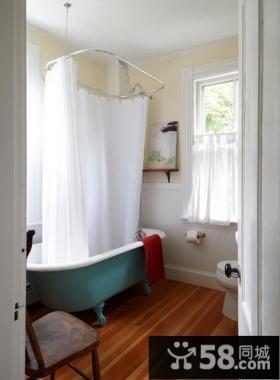 美式田园风格小户型卫生间装修效果图大全2013图片
