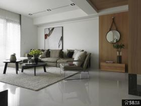 现代风格客厅沙发背景墙设计图