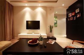 现代简约硅藻泥电视背景墙装修效果图