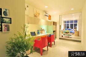 菲律宾联排别墅温馨的书房装修效果图大全2012图片