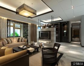 中式风格客厅吊顶设计