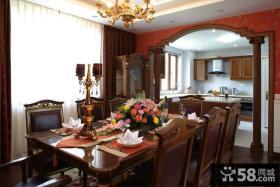 餐厅厨房一体装饰效果图欣赏