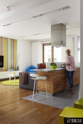 波兰90平米现代风格卫生间活力彩色空间设计