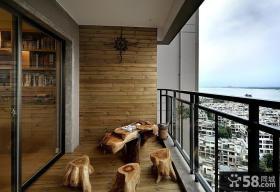 休闲区阳台装修设计图片