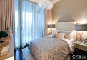 简约风格卧室床头背景墙效果图