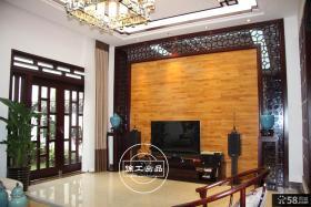 中式客厅电视背景墙效果图大全