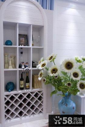 简约风格地中海酒柜图片
