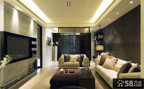 后现代风格客厅电视背景墙效果图欣赏