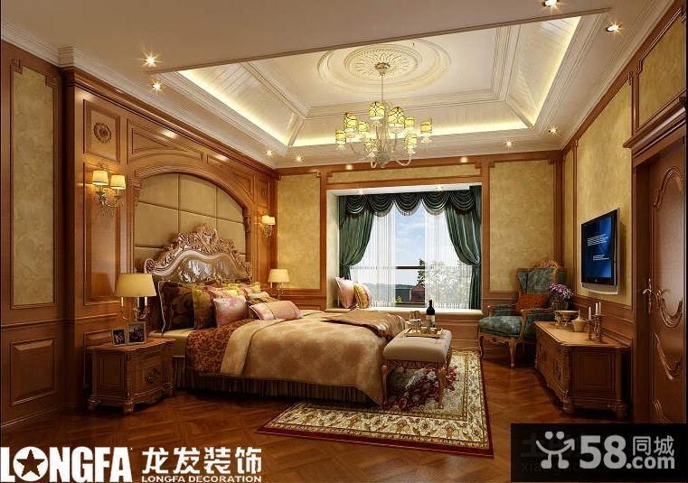 歐式別墅主臥室裝修效果圖大全2013圖片