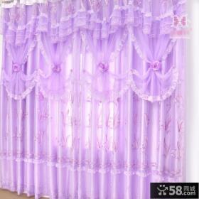 紫色梦幻客厅阳台大窗帘