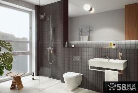 简欧现代复式室内卫生间设计效果图