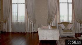美式别墅窗帘图片2014