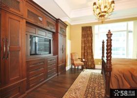 欧式古典风格卧室组合柜图片