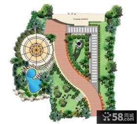 花园别墅景观设计平面图