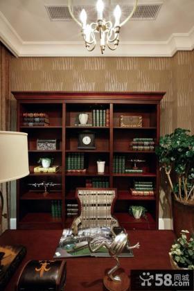 美式家装书房图片欣赏