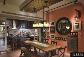 美式乡村风格设计餐厅室内效果图片