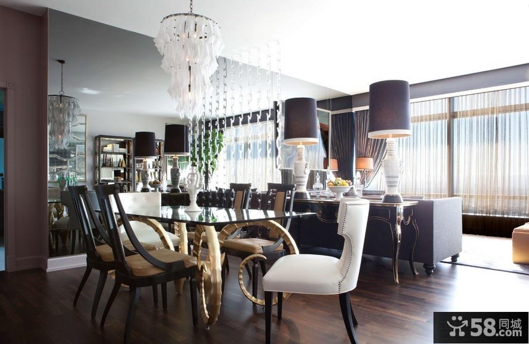 客厅餐厅一体吊顶装修效果图