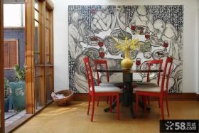 后现代风格家庭餐厅装饰画