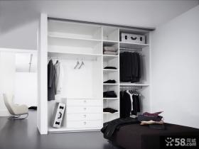 白色开放式衣柜设计大全