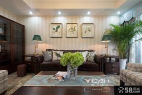 美式风格一室一厅装修效果图欣赏