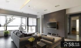2013现代客厅电视背景墙效果图片大全