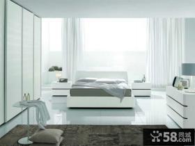 简约单间卧室家具摆放图