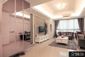 现代欧式风格小户型家装设计效果图