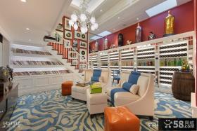 现代别墅小客厅沙发效果图